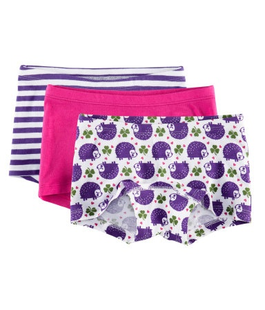 3-pack Boy Shorts $9.95    Boy shorts with a lined gusset.