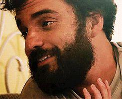 Jake Johnson's wonderful beard in Drinking Buddies.