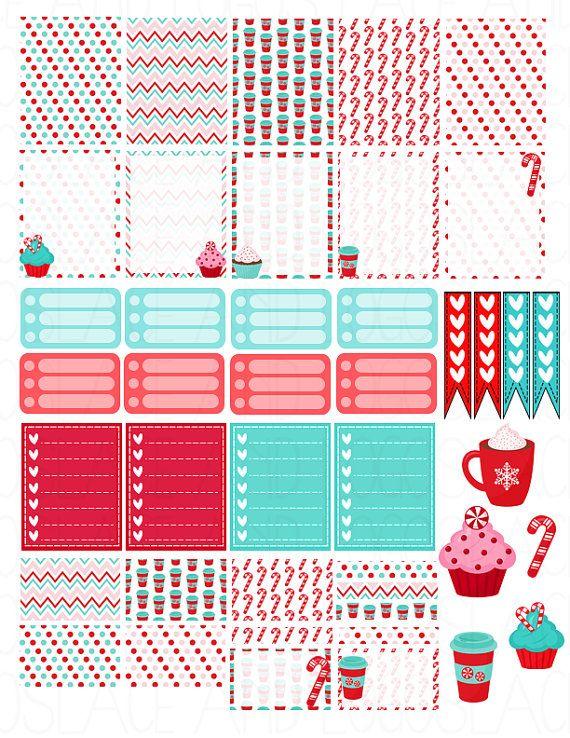Printable Planner Stickers Erin Condren MAMBI by LaceAndLogos | Print ...