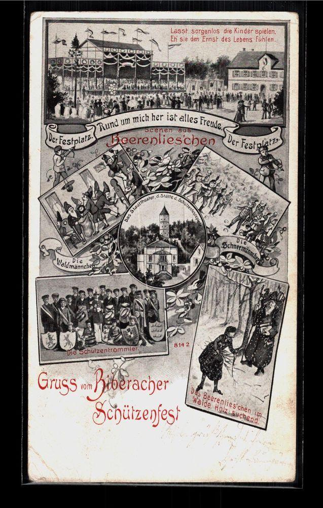509.351  Gruss vom Biberacher Schützenfest, gl1905