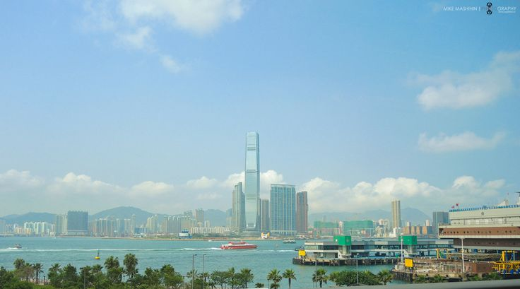 ICC Tower and Victoria Harbor. by Mikhail Mashikhin on 500px