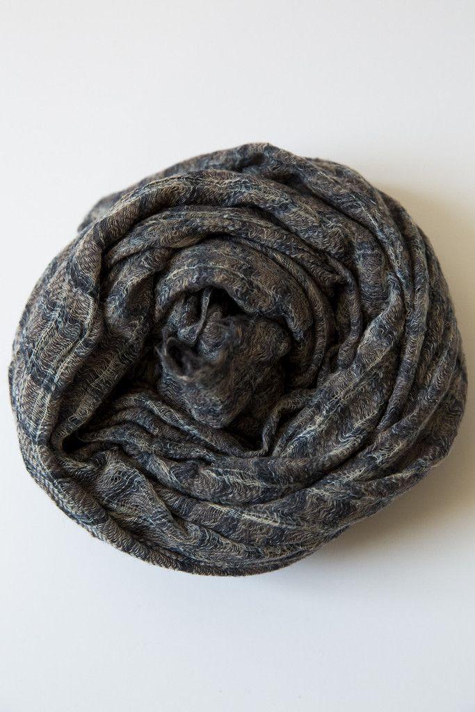 khadi grey scarf – Lost & Found