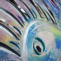 AMORE A PRIMA VISTA www.alicefagnocchi.it #metal #steel #iridescent #quadro #fantasia #occhio #ciglia