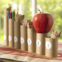 back to school countdown with little school gifts/treats