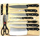 "amazon.com: HULLR Professional Chef Knife Set 8"" and 6"" Inch Stainless Steel Blade Razor Sharp: Kitchen & Dining"