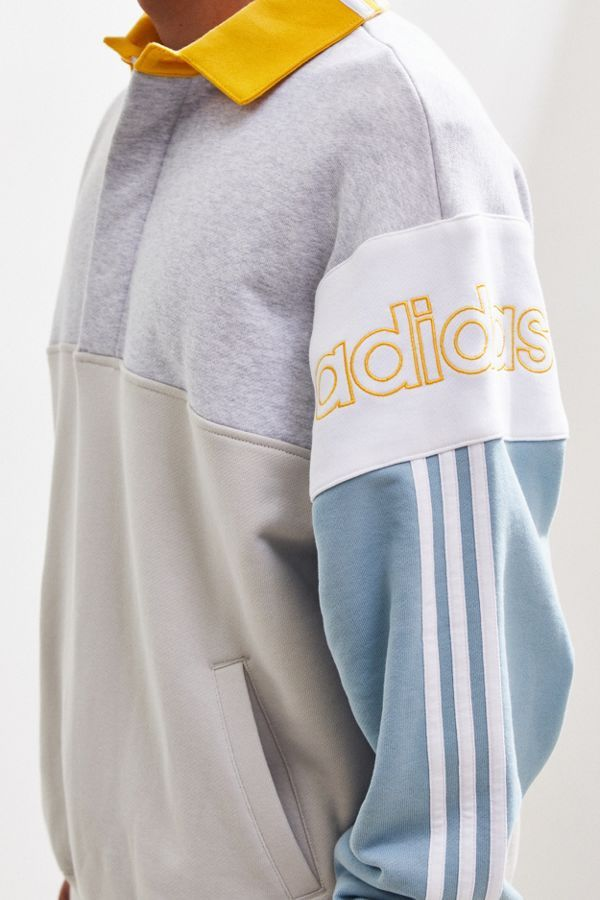 Decir a un lado Anormal Caballero amable  Slide View: 5: adidas Colorblock Rugby Sweatshirt | Sweatshirts, Clothes,  Rugby