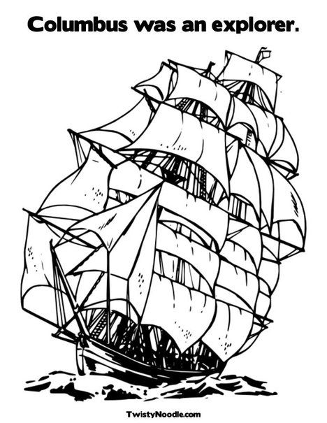 17 best Kolumbusz Kristóf images on Pinterest Columbus day, Crafts - new coloring pages of the nina pinta santa maria