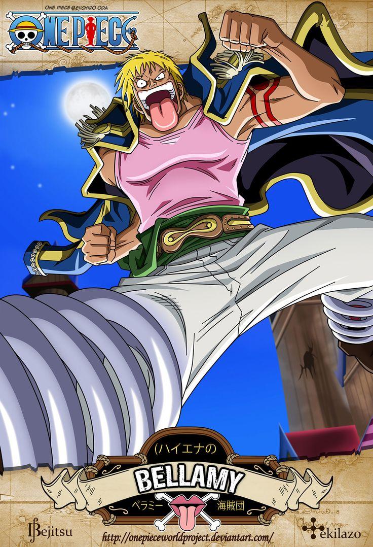 """One Piece - Bellamy Conocido en el Coliseo Corrida como la """"Bala de Dressrosa"""" era un subordinado de los Piratas Donquixote hasta ser traicionado por estos. Actualmente tiene una recompensa de Berry195.000.000"""