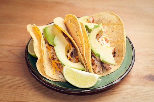 beer marinated chicken tacos, recipe: http://spaghettiandmeatblog ...