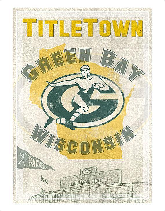 aswegoArts Green Bay Packers Titletown print $16.50