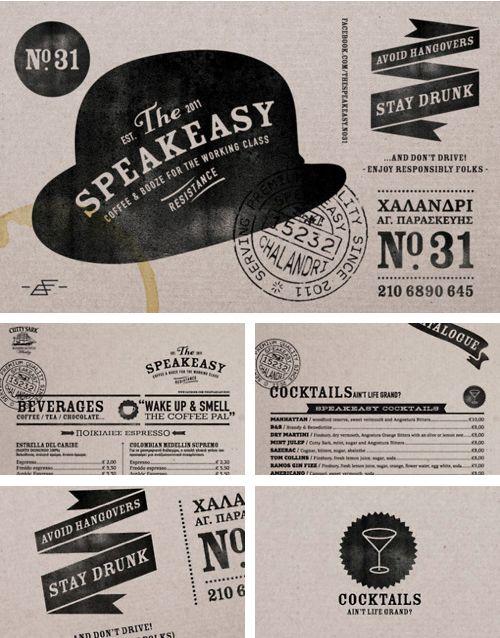 The Speakeasy brand identity