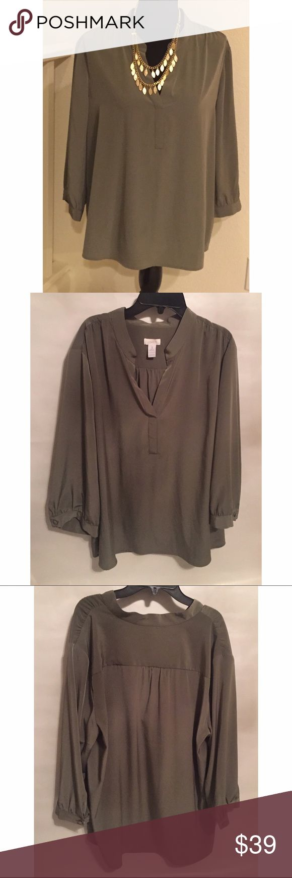Chico dressy top Chico dressy top. Size 3 (XL/16) Chico's Tops Blouses