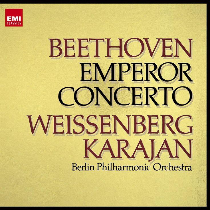 """Beethoven: Piano Concerto no.5 in E-flat Major op.73 """"Emperor"""". Alexis Weissenberg, Berliner Philharmoniker, Herbert von Karajan. EMI 1974"""