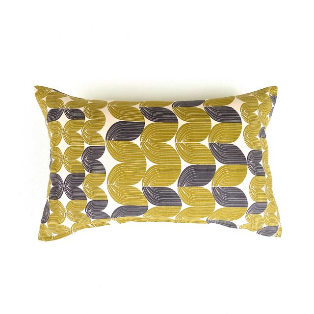 Mustard, Slate and Stone Oblong Cushion Cover