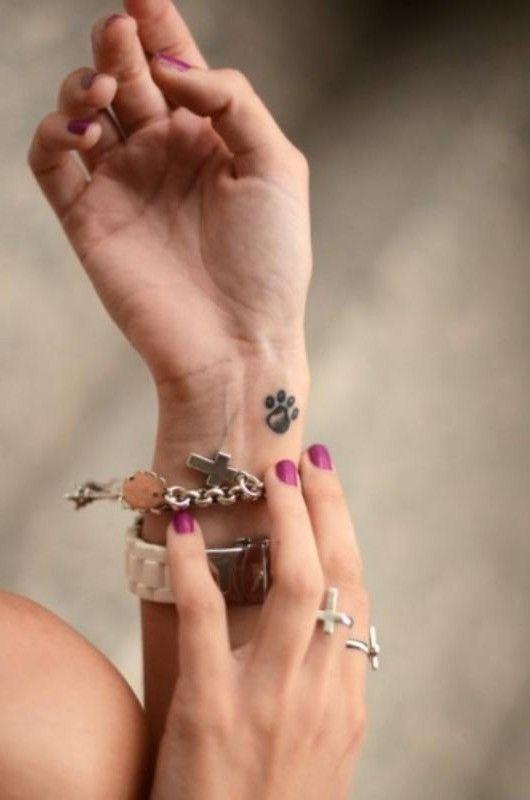 Cat Paw Tattoos for Wrist
