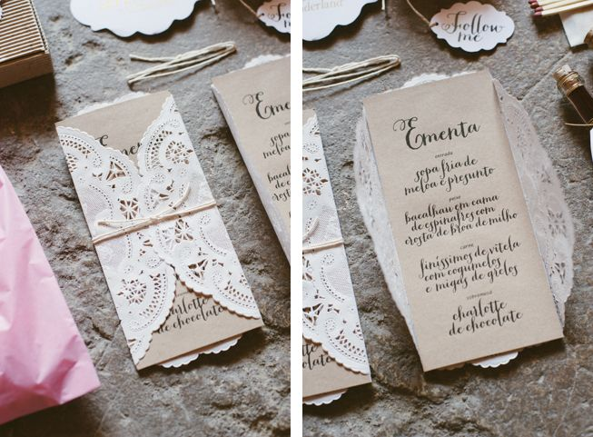 Sara & André's wedding in Monfalim, Portugal. All stationery was designed by the bride. Inspiration and final products here: http://www.behance.net/gallery/Sara-Andr-in-Wonderland-Wedding-Planning/12056585