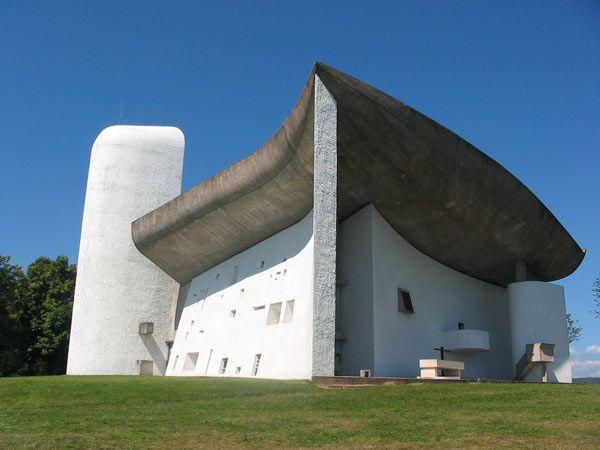 Le Corbusier, the Chapel of Notre-Dame-du-Haut in Ronchamp, France (1954)