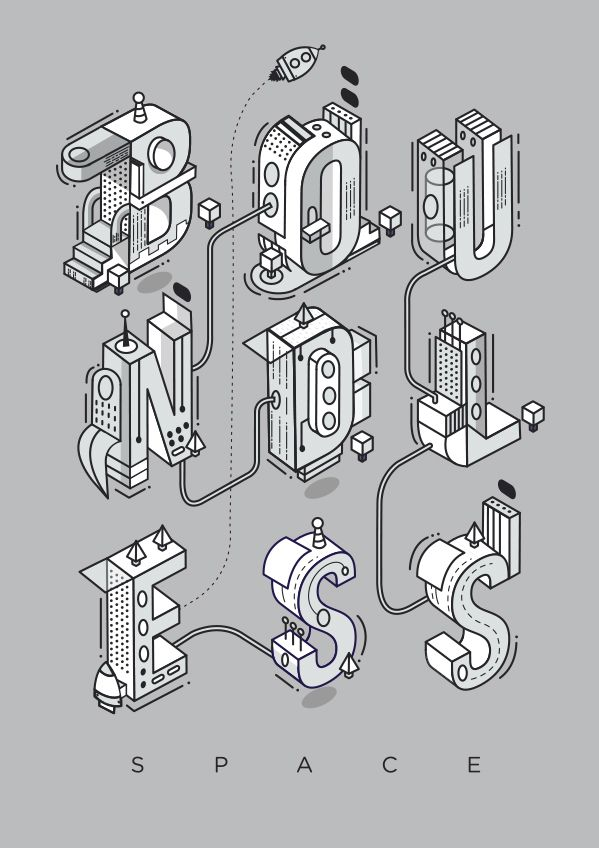 Boundless Space Typography | Abduzeedo Design Inspiration