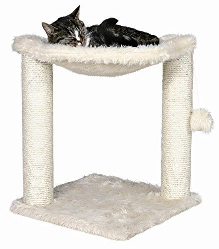 Baza Cat Hammock in Cream Color - Premium Cat Tree for Large Cats and Kittens, Cat Furniture Bundles with Scratching Post, Cat Toys and Cat Tree Hammock, Cheap Cat Trees with 1 Year Warranty by Trixie ** More details can be found by clicking on the image.