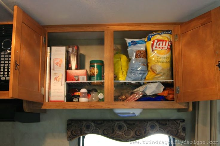 Use wire dish organizers in cupboards to organize
