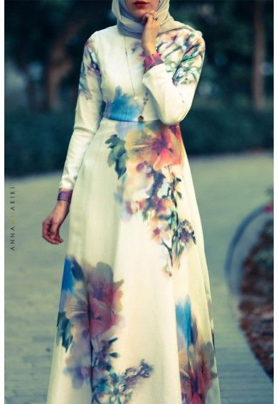 Annah Hariri -Silk Flower Dress