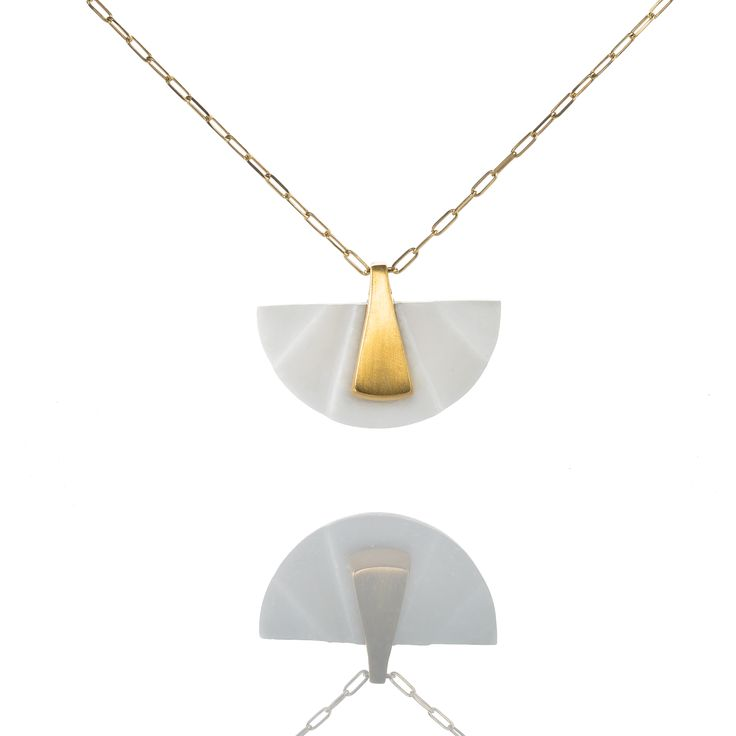 Hand carved marble - sterling silver gold plated 24K  MARMAROMETRY LUXURY  *Limited edition