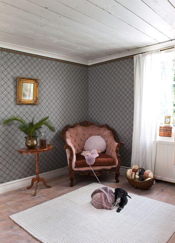 Les 84 meilleures images du tableau vackra rum sur for Kitchen cabinets lowes with papier peint originaux