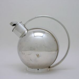 Cocktail Shaker, Germany, c. 1930 Silver. Often attributed to Bauhaus designer Marianne Brandt although it is more likely designed by Sylvia Stave.