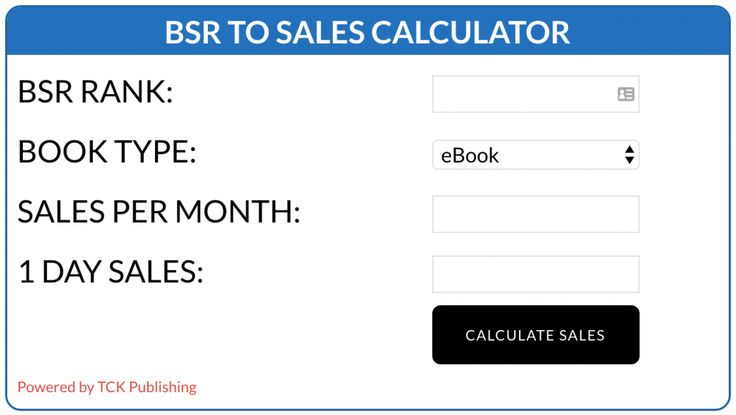 Find out exactly how many sales any ebook or physical book is currently selling on Amazon with the world's most accurate Amazon Book Sales Calculator.