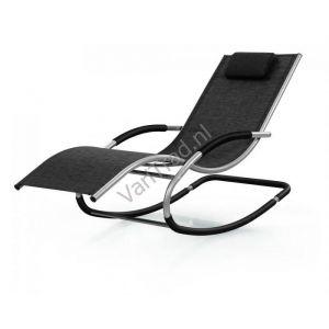 Schommelstoel relaxstoel aluminium met textileen