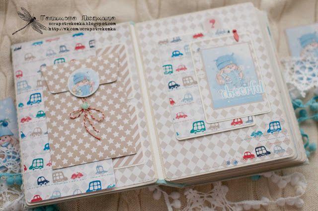 scrapstrekozka: Детский альбом с зайкаМи для мальчика