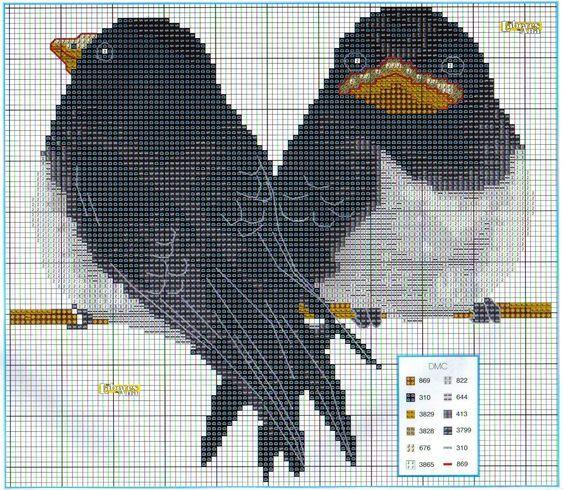 Etamin Şablonları Kuş Desenleri 90