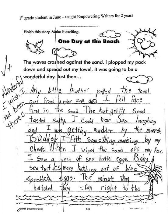 descriptive writing samples 4th grade