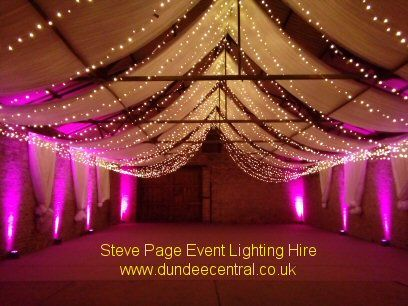 uplighting and fairy lights provided by Steve Page: www.dundeecentral.co.uk