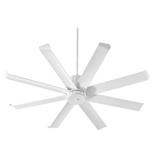 Quorum Lighting Proxima Patio Studio White Ceiling Fan Without Light | 196608-8 | Destination Lighting