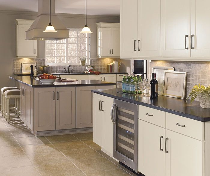 white shaker style cabinets lowes. white kitchen with gray plank