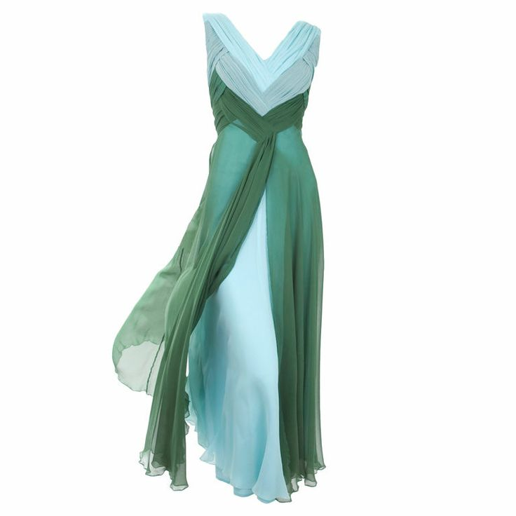 Valentino Boutique Silk Chiffon Gown: Fashion, Valentino, Dresses, Chiffon Gown