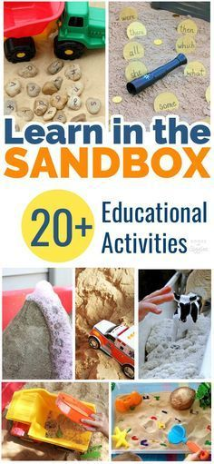 These sandbox learning activities are a fun way make play time educational. Preschoolers will love all these ideas for learning in the sandbox.