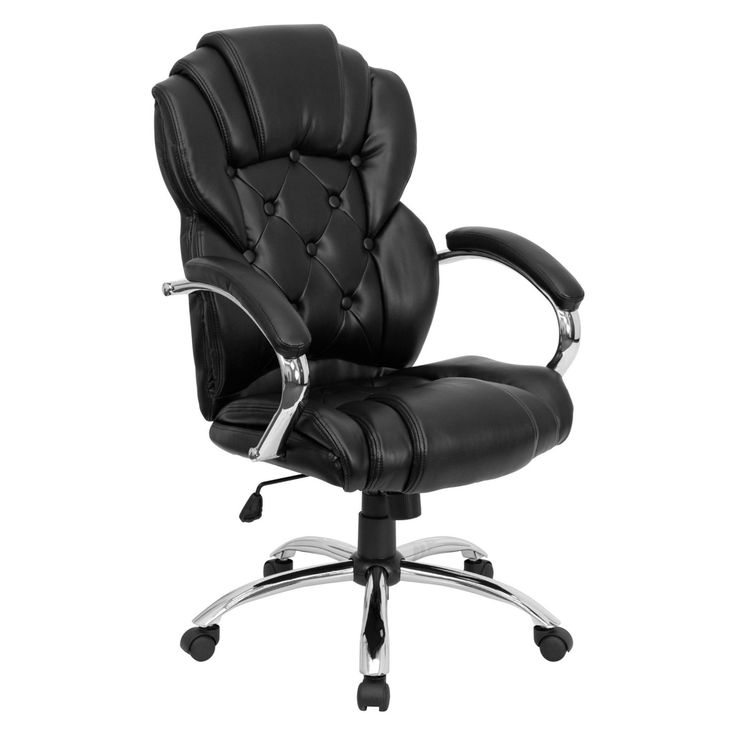Flash Furniture High Back Transitional Style Executive Office Chair - Black - GO-908A-BK-GG