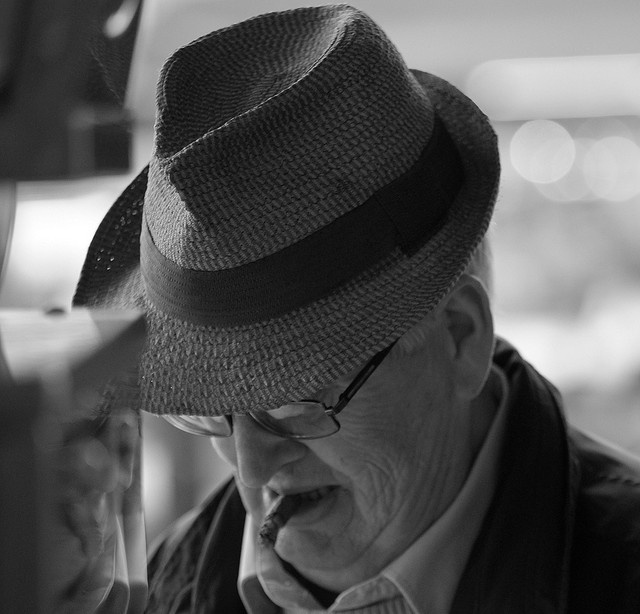 Older man with hat and sigar by Wouter Westenbrink, via Flickr