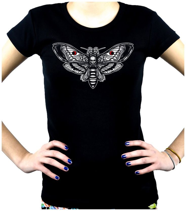 Moth with Death Skull Women's Babydoll Shirt Dark Alternative Clothing Gothic Deathrock  #rock #witch #kpop #alternativegirl #steampunk #alternativefashion #cybergothic #gothsofinstagram #rivethead #goths
