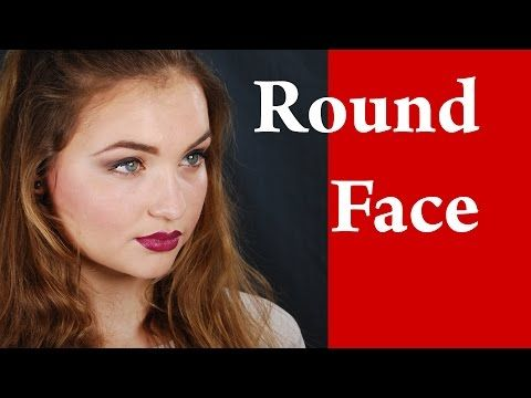 Contouring and highlighting a ROUND face -- How to apply makeup on round face video tutorial - YouTube