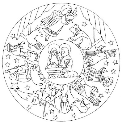 nativity embroidery -- would make a lovely ornament