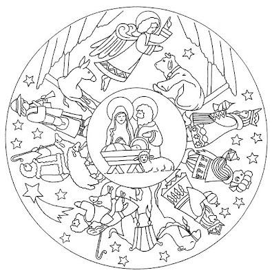 Mandala pesebre                                                                                                                                                                                 Más