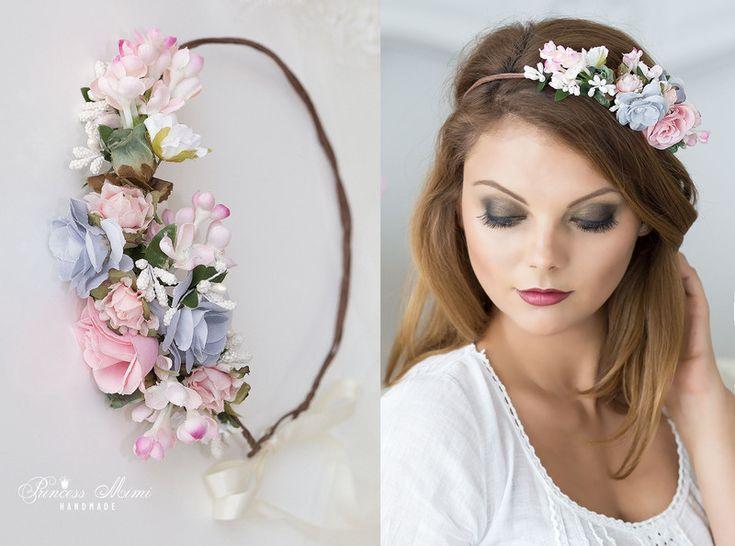 Haarschmuck & Kopfputz - Braut Haarkranz Dirndl Blumen Haarschmuck Kranz - ein Designerstück von Princess_Mimi bei DaWanda