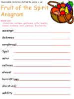Fruit of the Spirit Activity Sheets