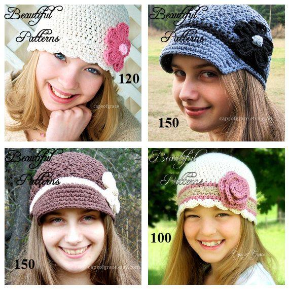 Uncinetto cappello modello 2 per Pack 9.00 Crochet Patterns PDF vendita affare Combo - Download immediato