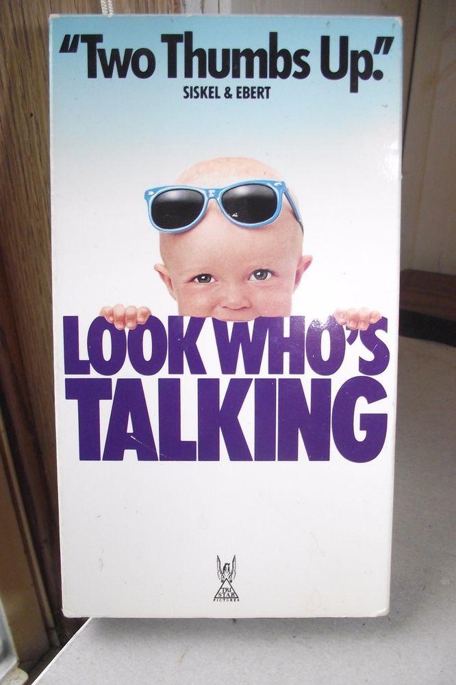 Look Whos Talking VHS John Travolta Kirstie Alley Classic Comedy Film Vintage 90