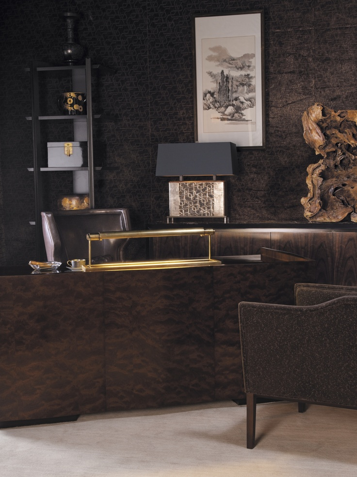 A Masculine Office Setting Designed By Bill Sofield.