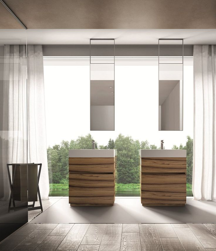 the cubik walnut vanity by bathroom brand ideagroup marries modern aesthetics natural beauty and practical function the holy trinity of great design